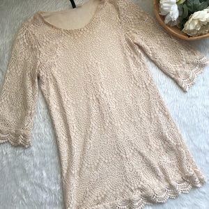 H&M Cream Lace Dress